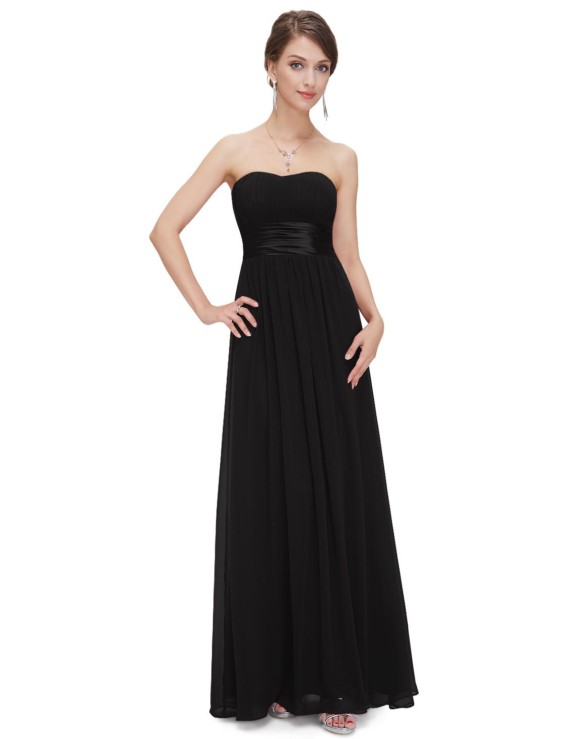 Ever Pretty plesové a společenské šaty 31EVHE09955BK (Dámské šaty)