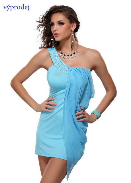VÝPRODEJ - Dámské šaty na jedno ramínko 8e881a5f59