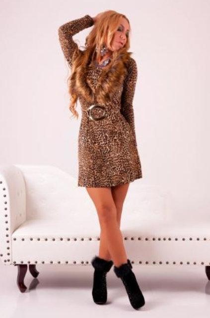 Dámské leopardí šaty (Dámské šaty)