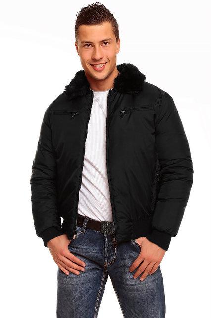 GANEDER pánská zimní bunda - černá (Pánská bunda)