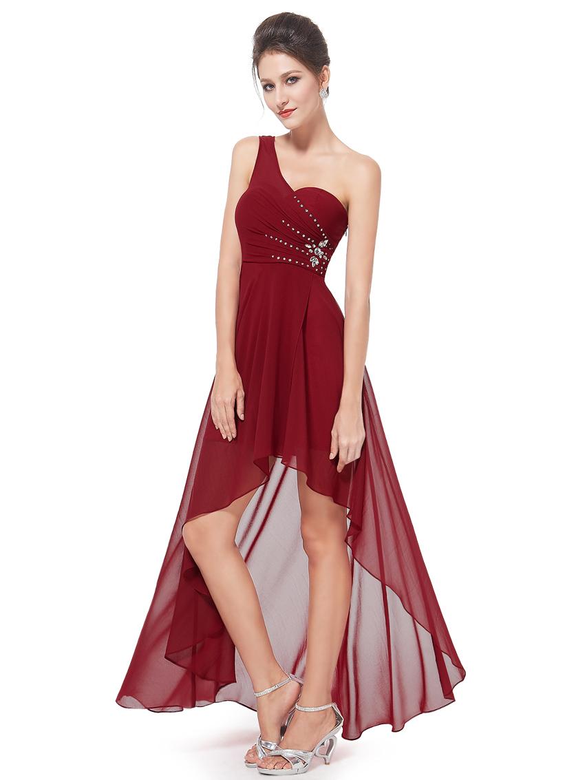 Ever Pretty plesové šaty s korálky bordó (Dámské šaty)