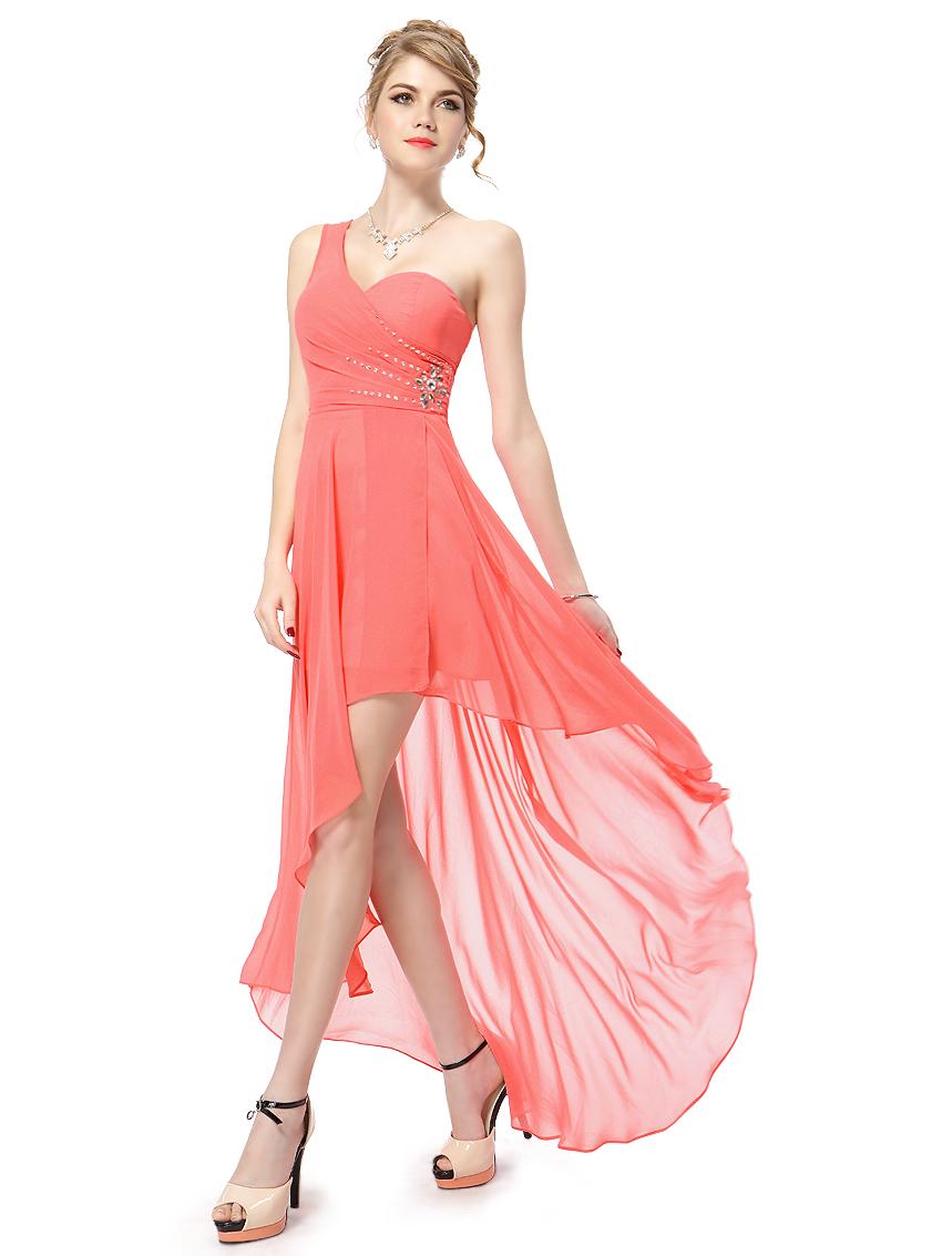 Ever Pretty plesové šaty s korálky 2634 lososová (Dámské šaty)