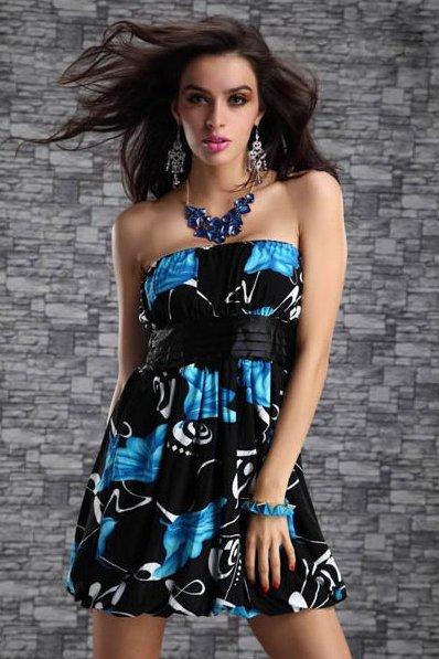 Dámské letní šaty modrá (Dámské šaty)
