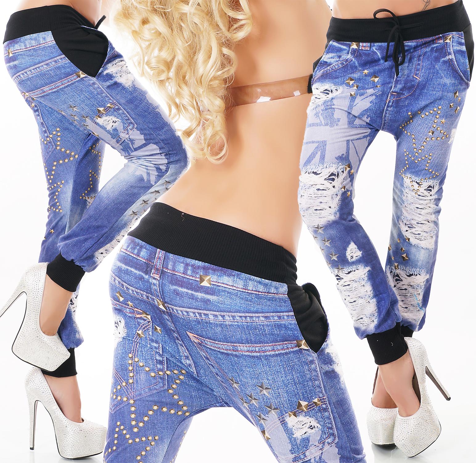 Dámské baggy kalhoty s potiskem (Dámské kalhoty)