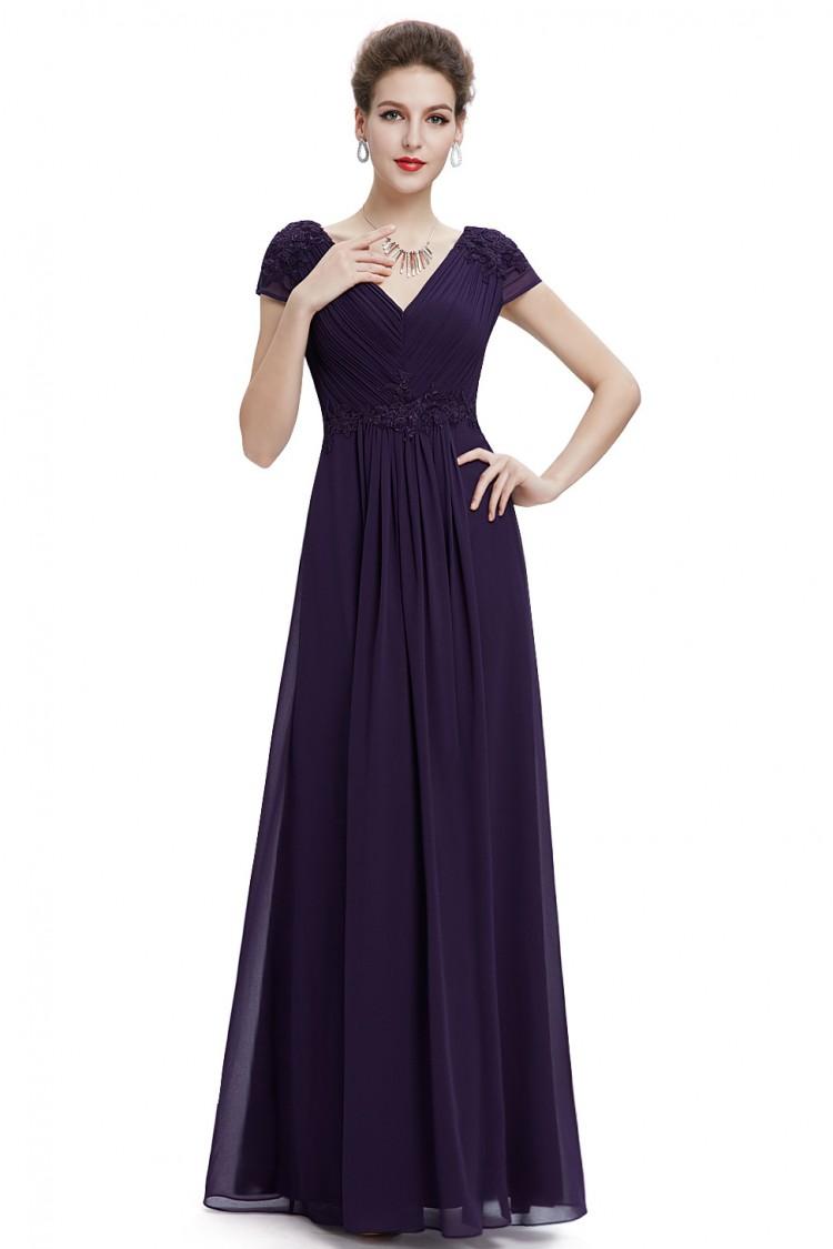 Ever Pretty společenské dlouhé šaty fialová caed7a50a4