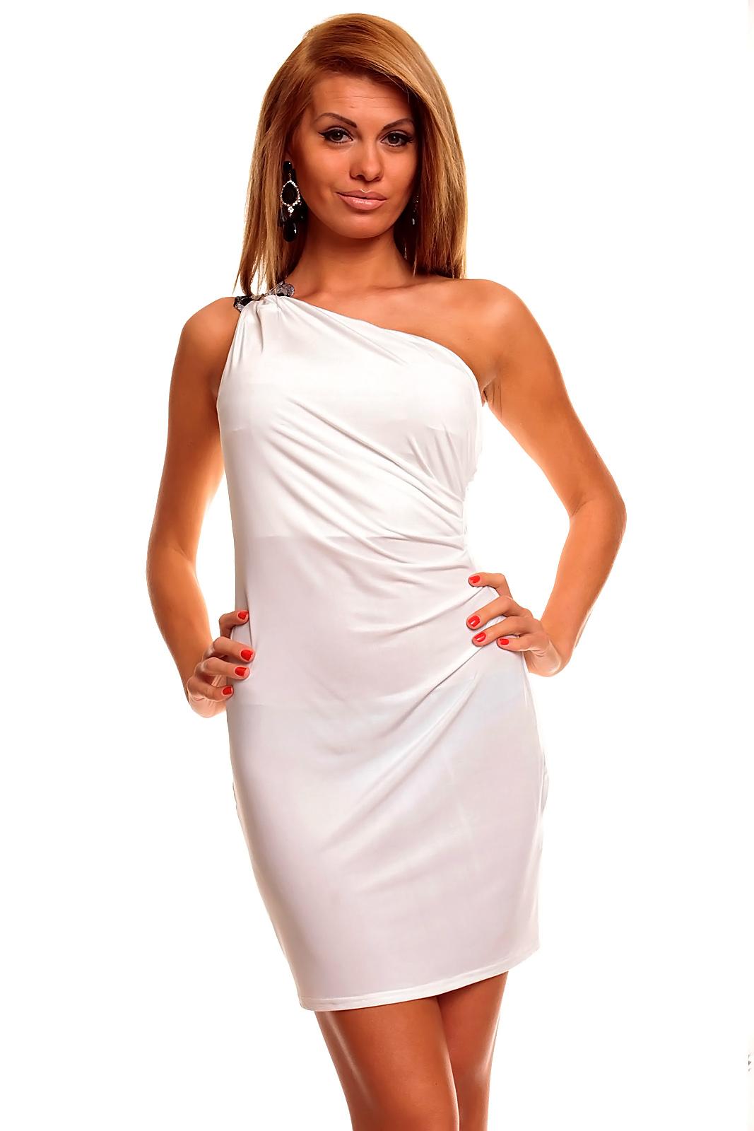 Mayaadi dámské přiléhavé šaty - bílé empty d8dfdede20