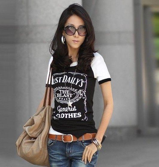 Dámské tričko s nápisy černá empty d40f0ac772