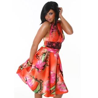 Letní barevné šaty Jela London apricot empty 97606590c3