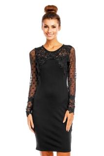 396266f16ec Dámské společenské šaty s krajkou černá empty