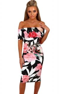 8cdd748079c6 Dámské šaty s květinovým potiskem černá ...
