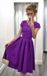 464eac1a19b9 Dámské saténové šaty s krajkou 2. jakost empty