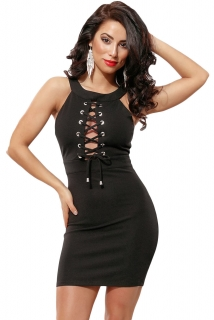 Dámské mini šaty se šněrováním černá empty e71db4ab1e