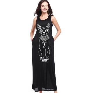 Dámské šaty s potiskem černá empty e09527b859f