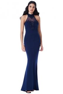 Společenské šaty Zn. GODDIVA s krajkou modrá ... 07d21a0178