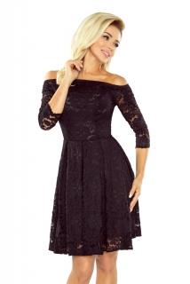 169ae054a505 Dámské krajkové šaty typu CARMEN Zn. NUMOCO® černá ...