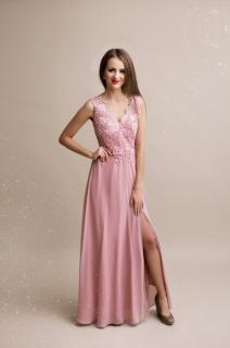 Dámské plesové a společenské dlouhé šaty Rosie růžové ... 4e20fb4296