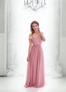 Dámské plesové a společenské dlouhé šaty CARLA růžová ... 4151ebd177