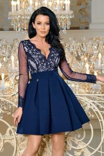 Dámské společenské krátké šaty LEENA modrá ... 3ff4197680