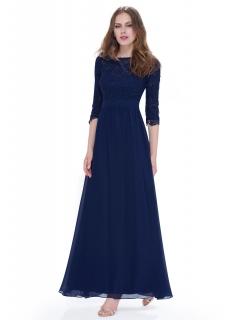 4a24389a3590 Dámské dlouhé společenské šaty LULA modrá ...