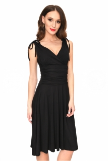 e689376d7a Dámské šaty ELIANE s vázáním na ramenou černá ...